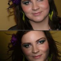 retusz portretu w którym zwiększyłam dynamikę poprzez rozwiane włosy