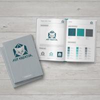 Księga Znaku dla agencji interaktywnej. Widok na podstawowe elementy.