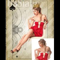 studyjne zdjęcie modelki opracowane graficznie tak, by stworzyć wrażenie malunku na karcie do gry