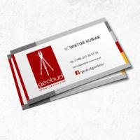 projekt wizytówek dla firmy geodezyjnej