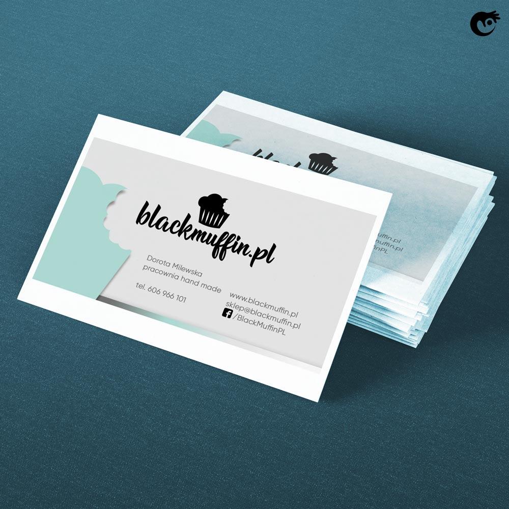 estetyczny projekt wizytówek dla pracowni handmade